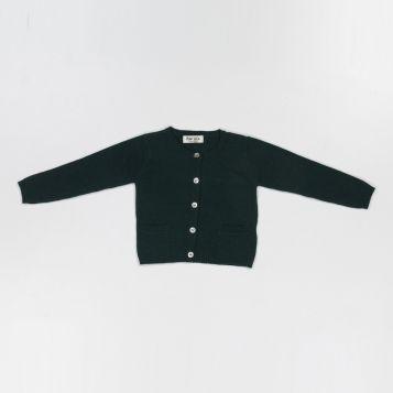 green wool/cashmere cardigan