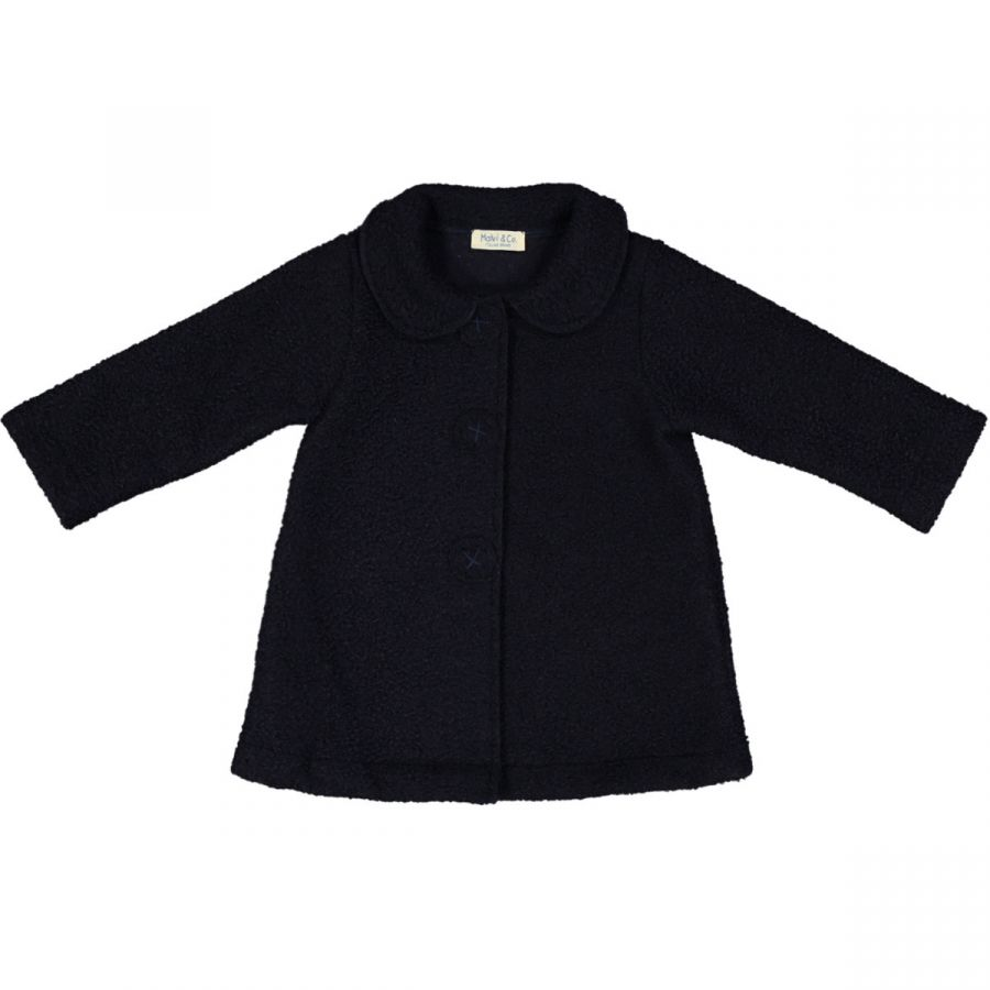 info for 3d35a 327ee cappotto bimba in lana boucleè navy